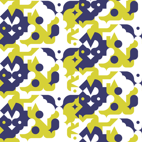 mod animals fabric by ravynka on Spoonflower - custom fabric
