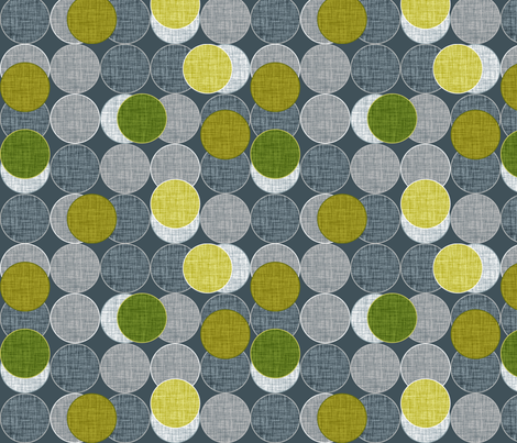 Dickinsonia Disks Lime fabric by spellstone on Spoonflower - custom fabric