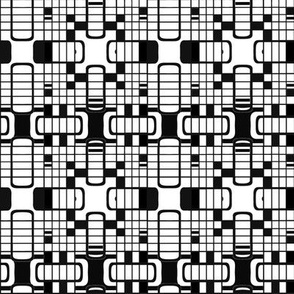 Black and White Gameboard Geometric © Gingezel™ 2012