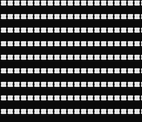 White Lozenge Stripe on Black © Gingezel™ 2012 fabric by gingezel on Spoonflower - custom fabric