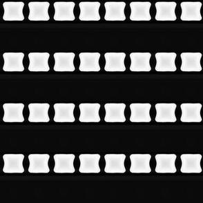 White Lozenge Stripe on Black © Gingezel™ 2012