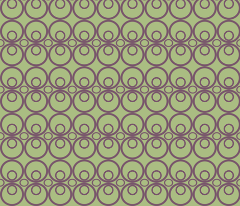Circle Time Green/Purple fabric by audreyclayton on Spoonflower - custom fabric