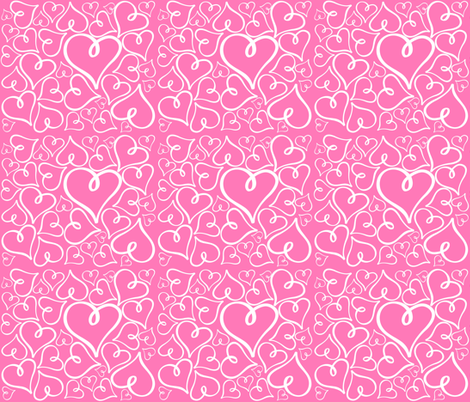 White Hearts fabric by arttreedesigns on Spoonflower - custom fabric