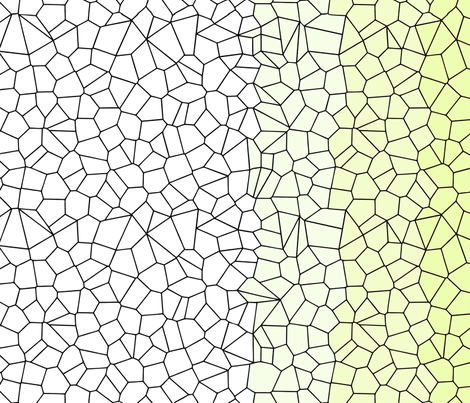 Gradient Voronoi - Rescaled - Single Mirror- Amy Lee fabric by candyjoyce on Spoonflower - custom fabric