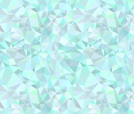 Mint Triangles fabric by kimsa on Spoonflower - custom fabric