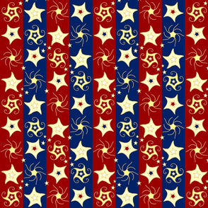Emboridered_Swirling_and_Twilling_Stars_on_Stripes_B