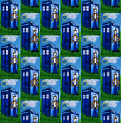 Doctor Who Matt Smith Inspired TARDIS &amp; Apple Grass