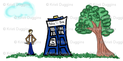 Doctor Who Inspired Toile Design