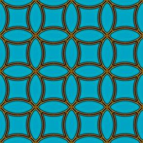 Bronze Rings  -turquoise