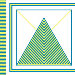 Saxon's Triangles for pillow