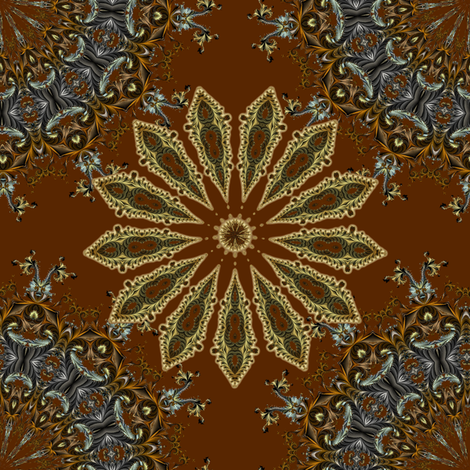 Mocha Medallions fabric by joanmclemore on Spoonflower - custom fabric