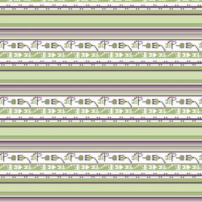 Little Houses Stripe_lengthwise print