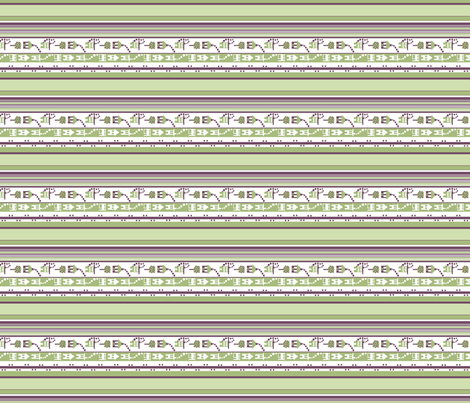 Little Houses Stripe_lengthwise print_small fabric by tallulahdahling on Spoonflower - custom fabric