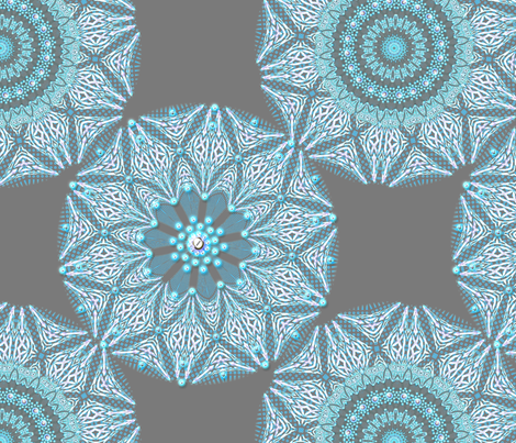 Lace and Pearls in blue fabric by joanmclemore on Spoonflower - custom fabric