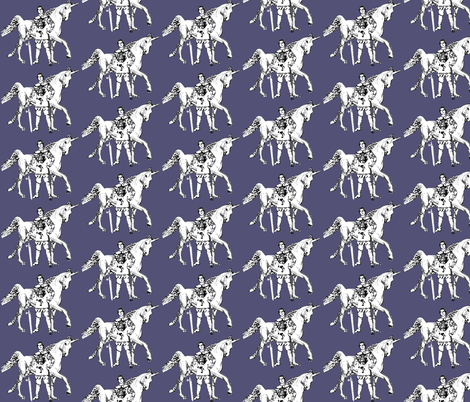 Knight's Unicorn fabric by rima on Spoonflower - custom fabric