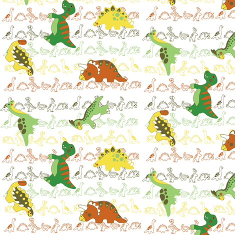 dino fabric by kirpa on Spoonflower - custom fabric