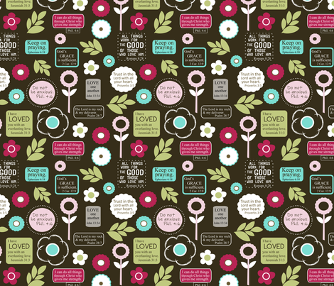 Bible verses  fabric by emilyb123 on Spoonflower - custom fabric