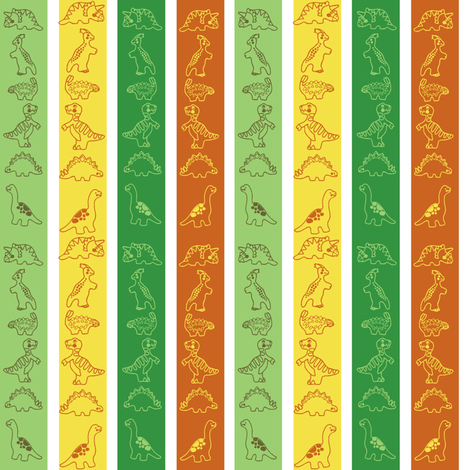 dino_strips fabric by kirpa on Spoonflower - custom fabric