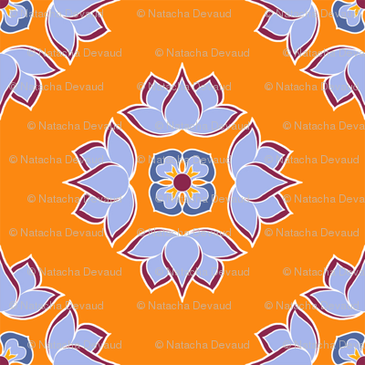 Lotus Flower Orange BG