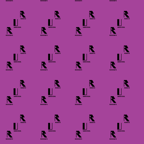 Retro Robotics-purple fabric by datawolf on Spoonflower - custom fabric