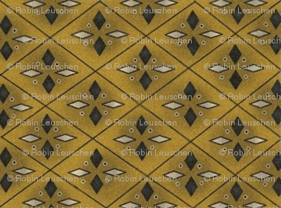 Gold and Black diamond print early style