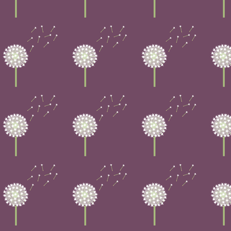 Many Dandelion Wishes  fabric by taramcgowan on Spoonflower - custom fabric