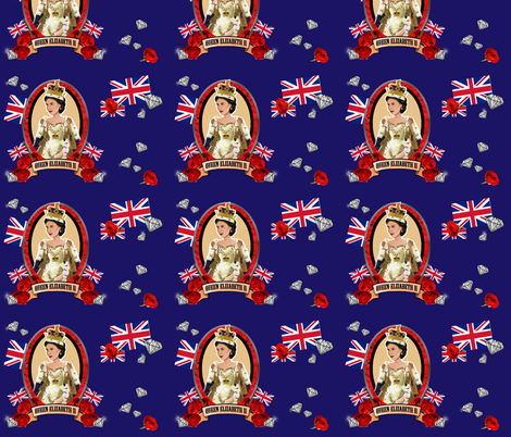 Diamond Jubilee in Blue fabric by littleliteraryclassics on Spoonflower - custom fabric