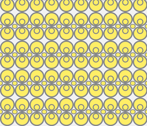 Circle Time Yellow/Gray fabric by audreyclayton on Spoonflower - custom fabric