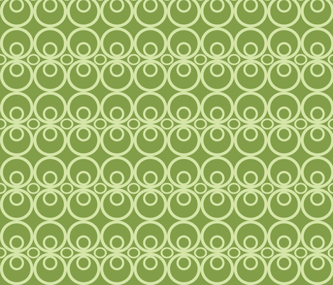 Circle Time Green fabric by audreyclayton on Spoonflower - custom fabric