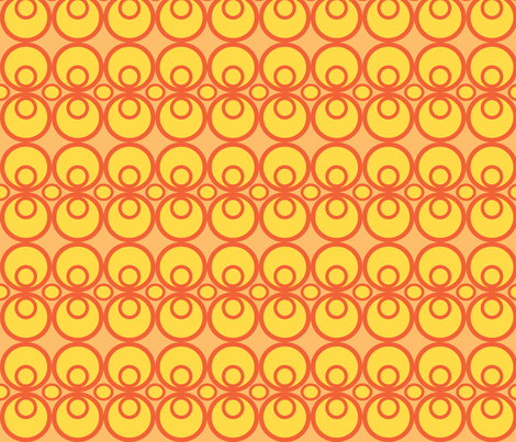 Circle Time Orange/Yellow fabric by audreyclayton on Spoonflower - custom fabric