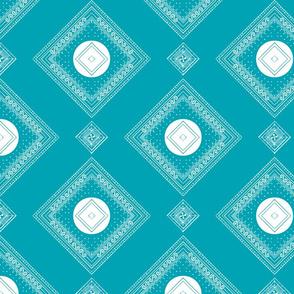 Turquoise Dot Block
