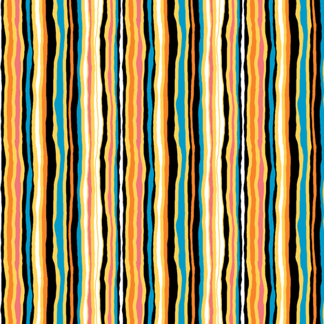 The Sky Is Falling_Companion Stripe fabric by tallulahdahling on Spoonflower - custom fabric