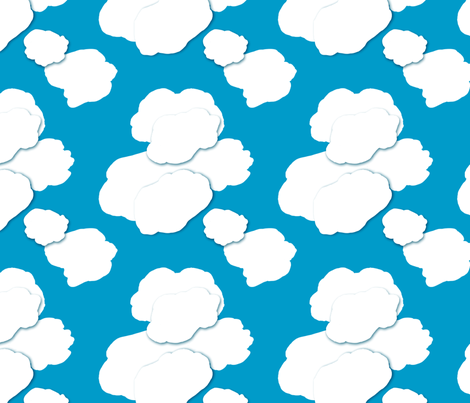 The Sky is Falling: The Usual Sky  fabric by tallulahdahling on Spoonflower - custom fabric
