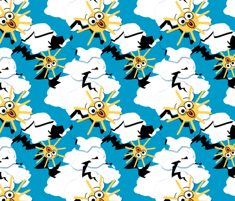 The Sky Really IS Falling! fabric by tallulahdahling on Spoonflower - custom fabric