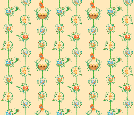 Sweet Melody Intertwined - © Lucinda Wei fabric by simboko on Spoonflower - custom fabric