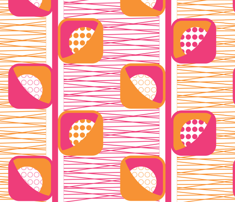 Geo_Pod_Flower-Pink fabric by kimnb on Spoonflower - custom fabric