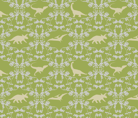 dino lace fabric by wednesdaysgirl on Spoonflower - custom fabric