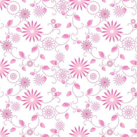Summer Bloom fabric by joanmclemore on Spoonflower - custom fabric