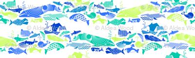 A Geometric Cetacean Parade - Ocean Medley