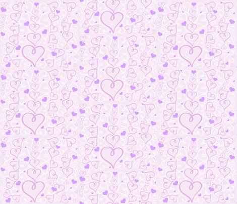 Purple Hearts fabric by arttreedesigns on Spoonflower - custom fabric