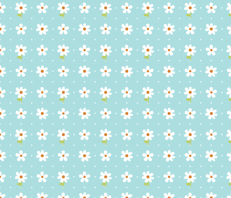 daisy fabric by christiem on Spoonflower - custom fabric