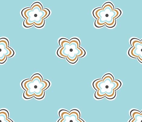 daisy_ripple fabric by christiem on Spoonflower - custom fabric
