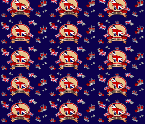 The Queen's Corgi fabric by littleliteraryclassics on Spoonflower - custom fabric