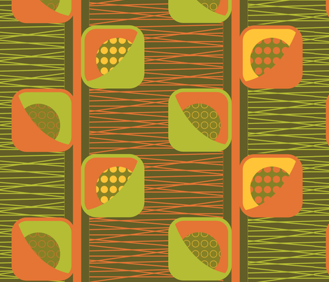 Geo_Pod_Flower-Harvest fabric by kimnb on Spoonflower - custom fabric