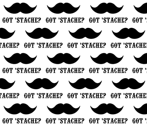 Got 'Stache fabric by scorpiusblue on Spoonflower - custom fabric