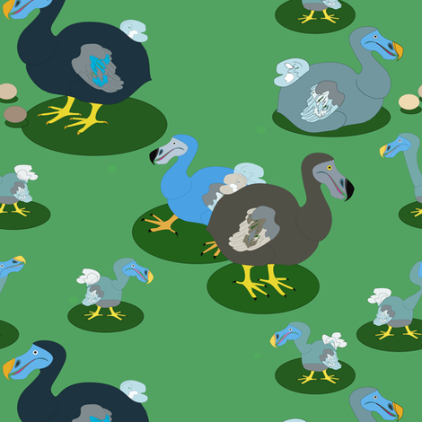Dodos fabric by stepanic on Spoonflower - custom fabric