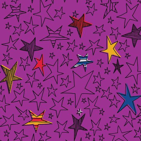 Superstars and Stripes fabric by erinina on Spoonflower - custom fabric