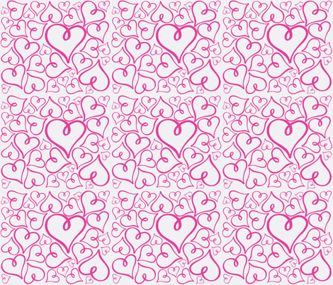 Pink Hearts fabric by arttreedesigns on Spoonflower - custom fabric