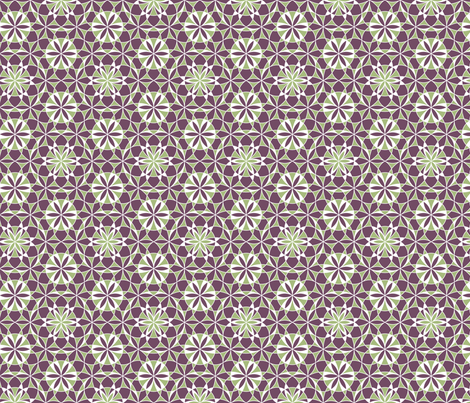 Flower of Life Mosaic fabric by andrea11 on Spoonflower - custom fabric