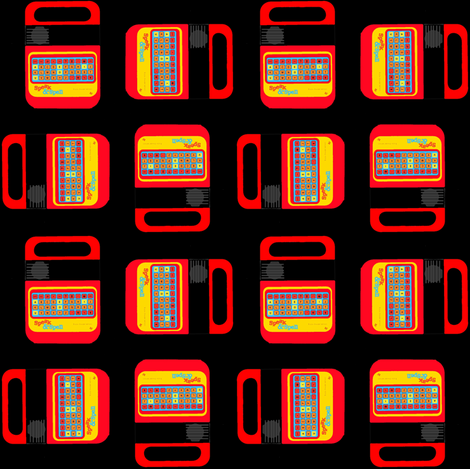 Speak & Spell fabric by theunicornandthewasp on Spoonflower - custom fabric